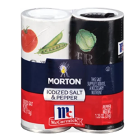 Morton Iodized Salt & McCormick Pepper Shakers, 5.25 oz