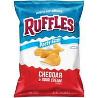 Ruffles Cheddar & Sour Cream Potato Chips Party Size, 13 Oz.