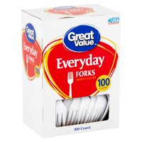 Great Value Everyday White Forks, 100 Count