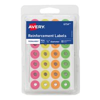 Avery Assorted Neon RFRC Rounds, 924 ct