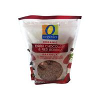 O Organics Organic Dark Chocolate & Red Berries Granola With Whole Rolled Oats, Chocolate Chips, Flax Seeds, Raspberries And Strawberries