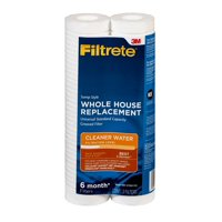 Filtrete Standard Capacity Grooved Replacement Whole House Filter, 4WH-STDGR-F02, 2 Filters