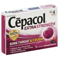 Cepacol Extra Strength Sore Throat & Cough Lozenges - Benzocaine - Mixed Berry - 16ct