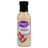 Great Value Organic Spicy Ranch Dressing & Dip, 12 fl oz
