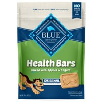 Blue Buffalo Health Bars Apple & Yogurt Recipe Crunchy Dry Dog Treats, 16-oz bag