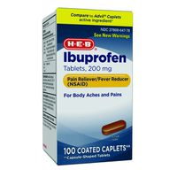 H-E-B 200 Mg Ibuprofen Coated Caplets