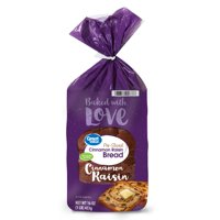 Great Value Cinnamon Raisin Bread, 16oz