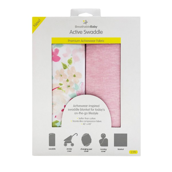 Breathablebaby Active Swaddle - 2pk