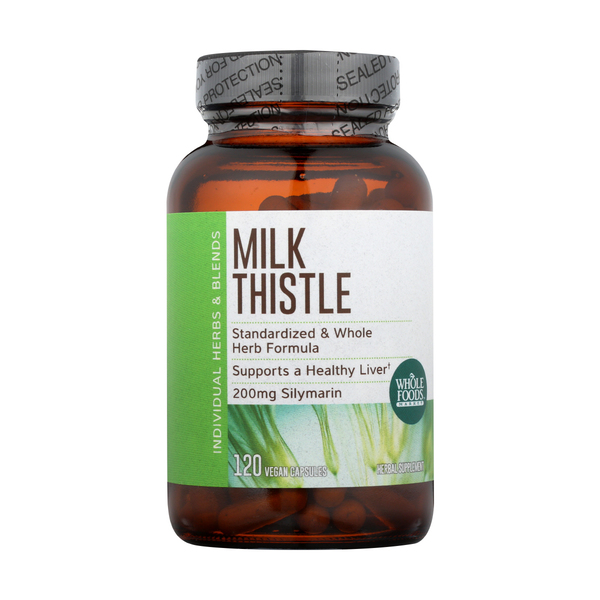 Whole foods market™ Milk Thistle [Made With Organic Thistle Seed], 120 Capsules