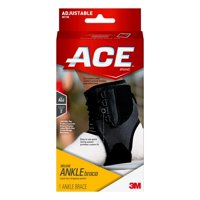 ACE Brand Deluxe Ankle Brace, Adjustable, Quick Lace Strapping System
