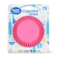 Great Value Cupcake Liners, Pink, 75 Count