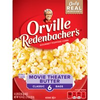 Orville Redenbacher's Movie Theater Butter Microwave Popcorn, 3.29 Oz, 6 Ct