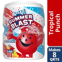 Kool-Aid Sugar Sweetened Caffeine-Free Limited Time 25% More Tropical Powdered Drink Mix, 23.9 oz Canister