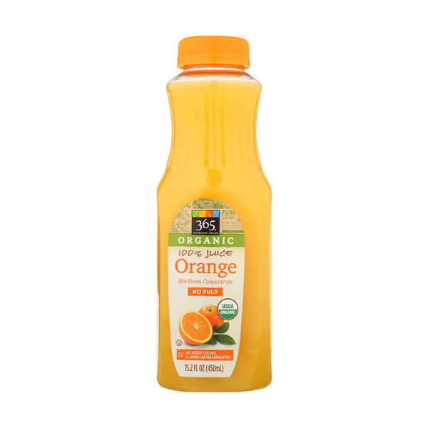 365 everyday value® Organic Orange Juice, 15.2 fl. oz.