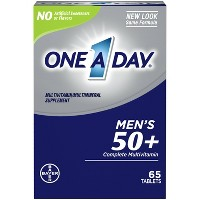 One A Day Men's 50+ Health Advantage Multivitamin / Multimineral Dietary Supplement Tablets - 65ct