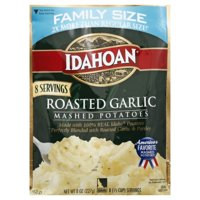Idahoan Roasted Garlic Mashed Family Size, 8 oz Pouch