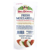 BelGioioso Fresh Mozzarella Cheese Sliced Log for Snacking or Cooking, 16 Oz