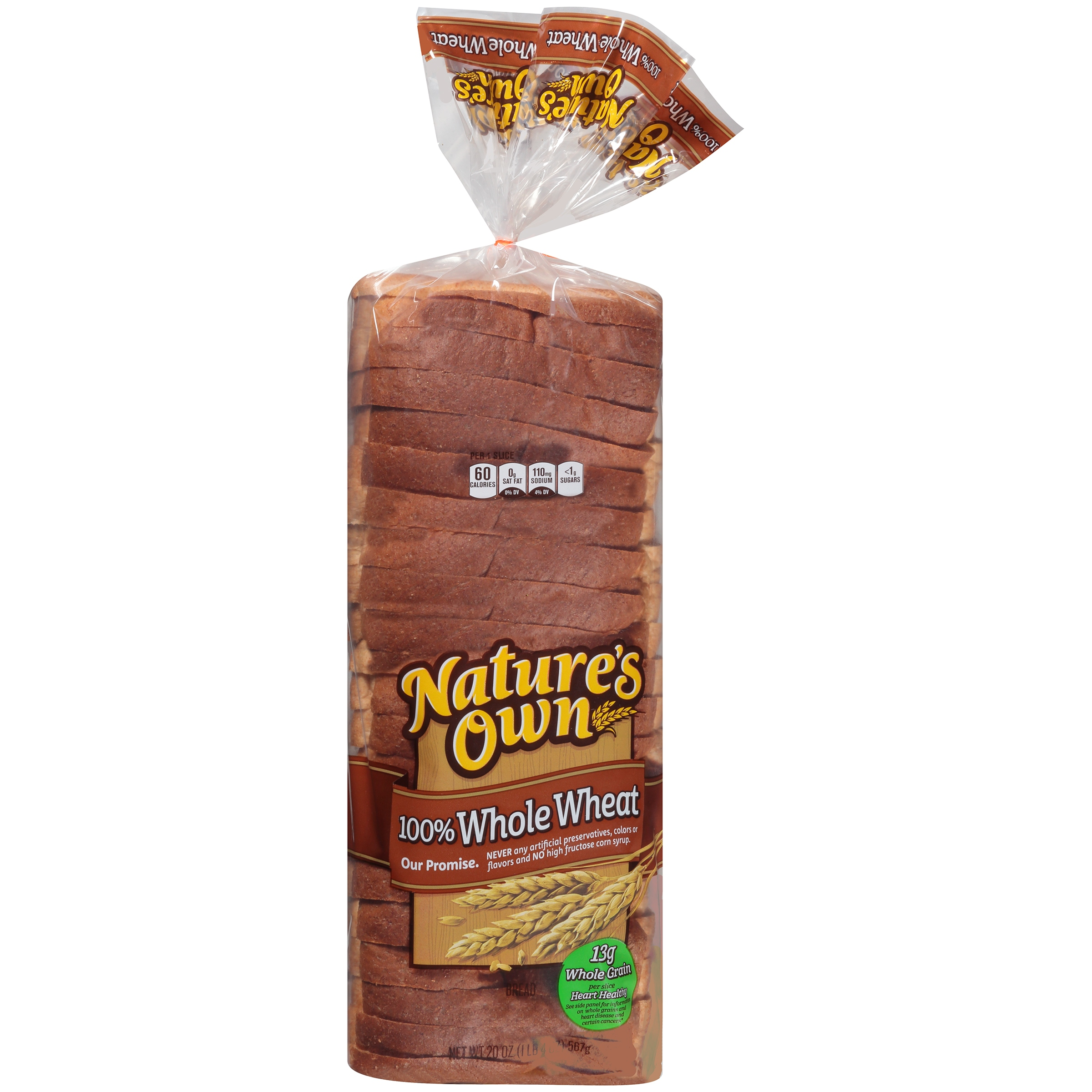 Nature's Own® 100% Whole Wheat Bread 20 oz. Loaf