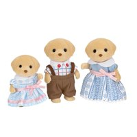Calico Critters Yellow Lab Family, 3 Poseable Plush Figures