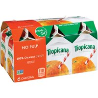 Tropicana Pure Premium, No Pulp 100% Orange Juice, 8 Fl. Oz., 6 Count