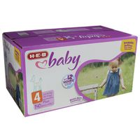 H-E-B Size 4 Baby Plus Diapers Pack