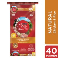 Purina ONE Natural Dry Dog Food, SmartBlend Chicken & Rice Formula, 40 lb. Bag