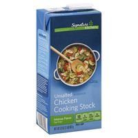 Signature Select Fat Free Rich Flavor Unsalted Chicken Stock