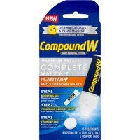 Compound W Complete Wart Kit, Freeze Off Wart Removal, 15 Treatments