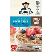 Quaker Lower Sugar Instant Oatmeal Maple & Brown Sugar - 10ct