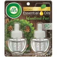 Air Wick Scented Oil Twin Refill Essential Oils - Woodland Pine - (2x.67) oz