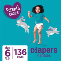 Parent's Choice Diapers, Size 6, 136 Diapers