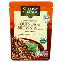 Seeds of Change Certified Organic Quinoa & Brown Rice with Garlic