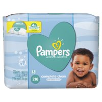 Pampers Baby Wipes Complete Clean Scented 3X Refill (Tub Not Included) 216 Count