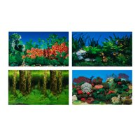 Aqua Culture Two-Sided Aquarium Background, 10 Gallon Tanks
