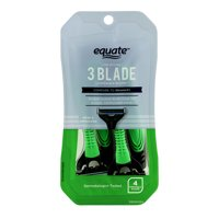 Equate The Stylish 3 Blade Disposable Razors for Men, 4 count