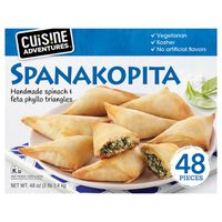 Cuisine Adventures Spanakopita Spinach & Feta Phyllo Triangles, 48 oz