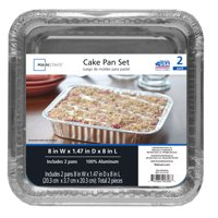 Mainstays Square Cake Pans, 2 Count