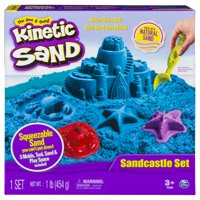 Kinetic Sand - Sandcastle Set with 1lb of Kinetic Sand and Tools and Molds (Color May Vary)