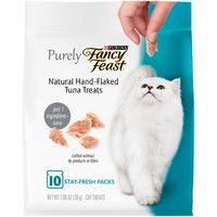 Fancy Feast Natural Cat Treats, Purely Natural Hand-Flaked Tuna