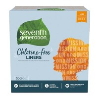 Seventh Generation Free & Clear Chlorine Free Light Pantiliners - 100ct