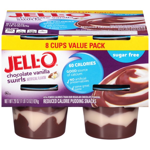 Jell O Sugar Free Chocolate Vanilla Swirls Pudding 29oz 4pk From Target In Austin Tx Burpy Com