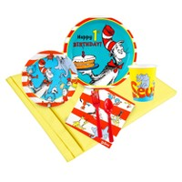 Dr. Seuss 1st Birthday - 48 Guest Party Pack