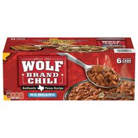 Wolf Brand Chili No Bean, 6 x 15 oz