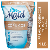 LitterMaid Premium Corn Cob Litter 9 Pounds, Clumping Formula, Dust Free