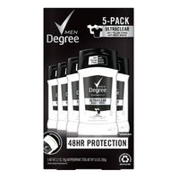 Degree Black & White Solid Antiperspirant, 5 x 2.7 oz