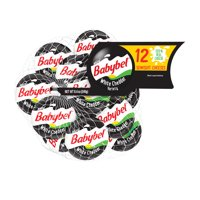 Mini Babybel White Cheddar Semisoft Cheese, 12 count, 9 oz