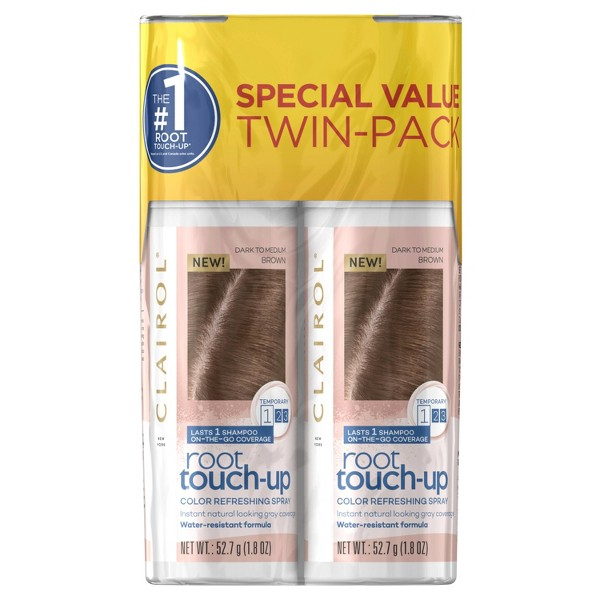 Clairol Root Touch-Up Color Refreshing Spray Twin Pack - 3.6oz