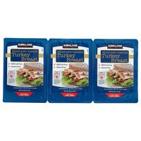 Kirkland Signature Sliced Turkey Breast, 3 x 14 oz