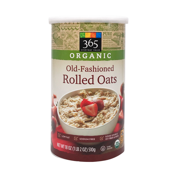 365 everyday value® Organic Old Fashioned Rolled Oats, 18 oz