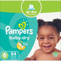 Pampers Baby-Dry Diapers Size 6 64 Count